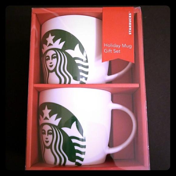 Starbucks Holiday Mug Gift Set Nwt